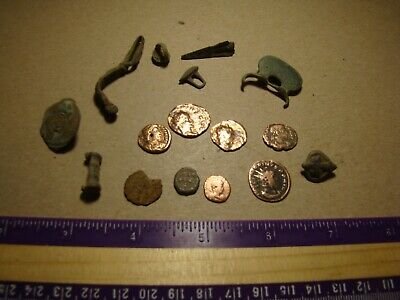 Lot ancient Roman Empire coins, relics, artifacts !!