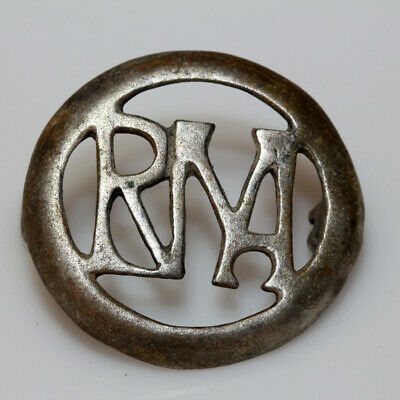 Extremely Rare Roman Silver Open Work Fibula Brooch With Monograms Ca 300 Ad