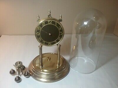 Vintage  Anniversary Clock - Parts/repair - With Glass/dome
