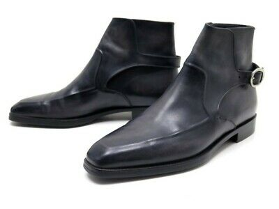 Neuf Chaussures Berluti Bottines 5 39 Cuir Noir A Boucle Low Boots Shoes 1800€