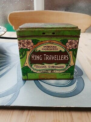 Art noveau Cook And Co Ring Travellers Tin 9x7x8 cm