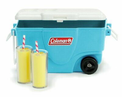 "Coleman® Cooler & Lemondade Camp Set 18"" Doll Food & Accessory For American Girl"