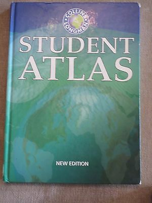 Collins Longman Student Atlas, hardback, maps, cut out for craft projects, frame