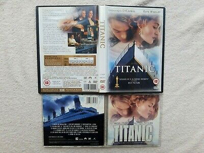 Titanic DELUXE DVD + MOTION PICTURE SOUNDTRACK + BACK TO  CD BUNDLE DiCaprio