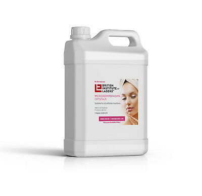 PURE Microdermabrasion crystals, 1.5kg, Grade A, Made in UK, ship to all the UK