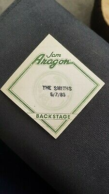 The Smiths / Morrissey backstage pass Meat is Murder Tour Aragon Chicago 1985