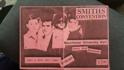 The Smiths Convention / Morrissey Manchester University Hall July 1988