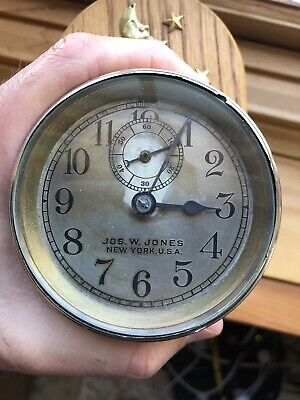 Antique Jos. W. Jones New York Early Automobile Dash Clock Made in the USA