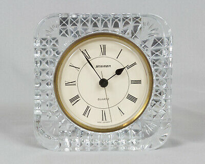 Staiger Quartz Crystal Clock West Germany movement French Vintage