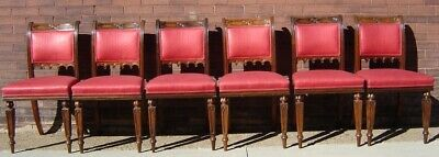 American Gothic Rosewood Dining Chairs Set 6 19Th Cent. Ex.cond Crawford Riddell