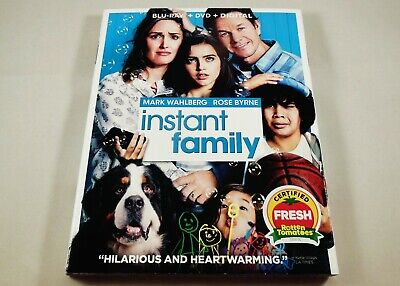 Instant Family Blu-ray, DVD & Digital 2-Disc Set Mark Wahlberg, Rose Byrne