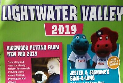 Lightwater valley. £18pp. SAVE UPTO £40. Upto 5 people. GENUINE VOUCHER..2019