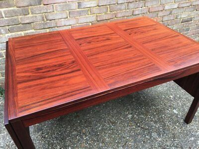 Kai Winding Brazilian Rosewood Drop Leaf Dining Table 70s Mid Century