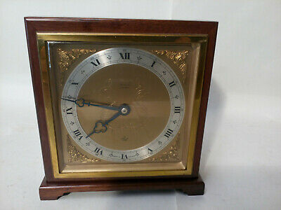 Elliott Mantle Clock Gd Cndtn Running Well Edwardian Minimal Mahogany Harrods