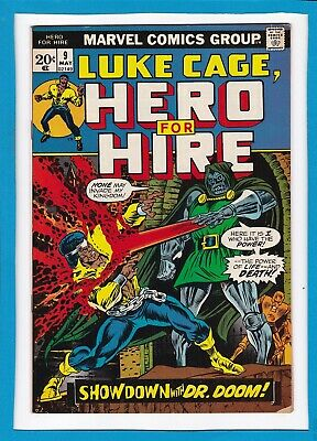 """Luke Cage, Hero For Hire #9_May 1973_Vg_""""showdown With Dr. Doom""""_Bronze Age!"""