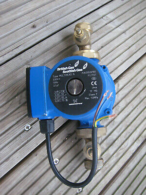 British Gas Central Heating Pump Complete With Valves (USED)