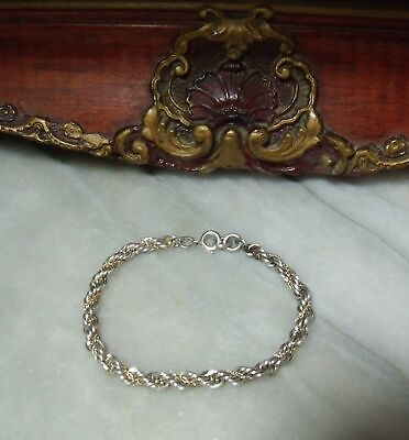 Art Deco Vintage Sterling Silver + Solid 14k Gold Adjustable Bracelet