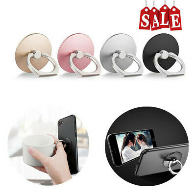 360 Degree Round Finger Ring Mobile Phone Smartphone Stand Holder Adhesive Ring