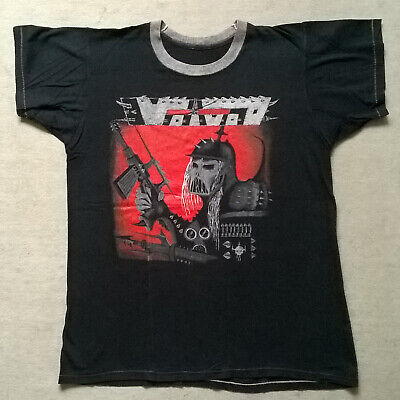 Vintage Voivod War And Pain Hand Painted T-Shirt Thrash Progressive Metal Canada