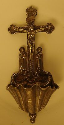 Liturgy Sterling Silver Cross And Shell Blessing Spain 1880