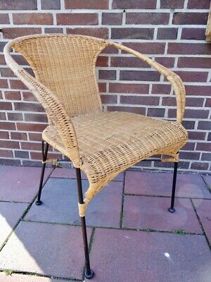 Basket chair Stuhl Armlehnstuhl Geflecht wicker chair era Legler 50er 60er top