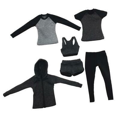 1/6 Scale Female Fitness Activewear Outfits for 12inch TC Figure Body Accs