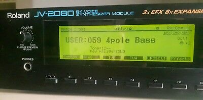 ROLAND JV2080 Rack Module MIDI Vintage Synthesizer Small signs 0