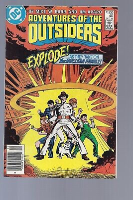 High Grade Canadian Newsstand Adventures of the Outsiders 40 $1.00 Price variant