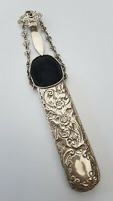 Antique Solid Sterling Silver Chatelain Glasses Case London 1890