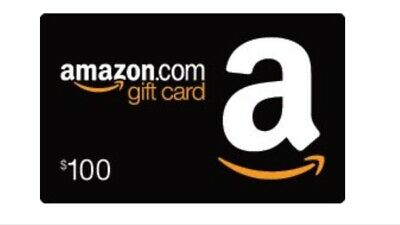 $100 Amazon Gift Card, FAST FREE SHIPPING Redeem at Amazon.com