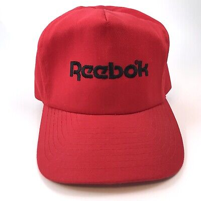 03cde6a8d35 Vintage 80s 90s Reebok Snapback Hat Otto Cap Red Embroidered Spell Out  Athlete