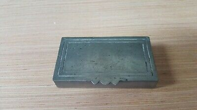 antique Pewter Handmade In Portugal Trinket Snuff Box Stamped on Bottom