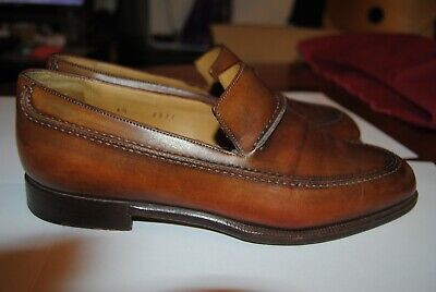 6a5bc66eb2f CHAUSSURES BERLUTI MOCASSINS 9 43 Cuir Marron Brown Leather Loafers ...