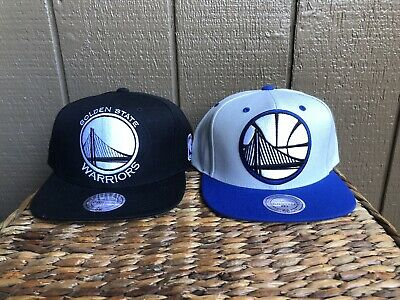 Golden State Warriors Mitchell And Ness Lot Of 2 Sbapback Hat Cap