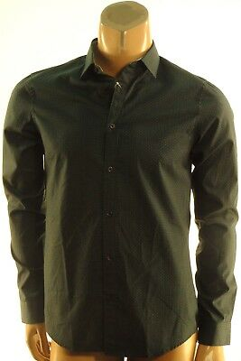 b9a70f17a0e Michael Kors NEW  130.00 Gray Blue Jax Print Slim Fit Button Down Shirt sz-  XL