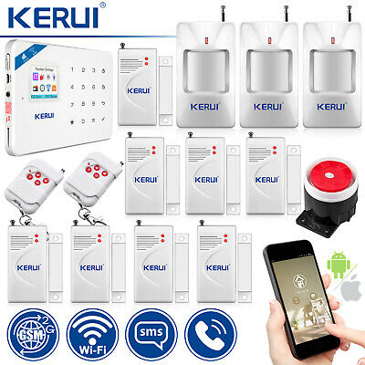 KERUI W18 Wireless WiFi GSM SMS Home Security Alarm System Motion PIR Detector