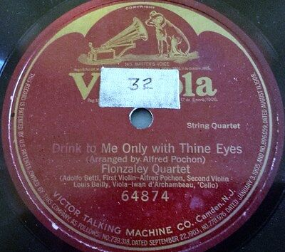 Victrola #64874, Drink To Me Only With Thine Eyes, Alfred Pochon, single side