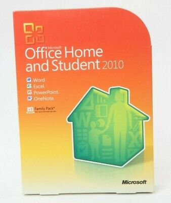 Pre-Owned Microsoft Office Home and Student 2010 Used Product Key Open Box