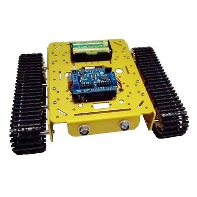 Arduino+WiFi Control Tracked Tank Robot Chassis Kit Car Light Shock with LED