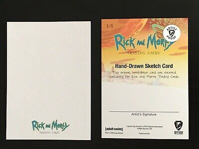 2018 Cryptozoic RICK & MORTY Blank AP Artist Prof Sketch Card