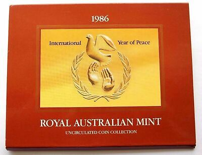 "1986 Royal Australian Mint - ""  Year of Peace "" Uncirculated Australian Coin Set"