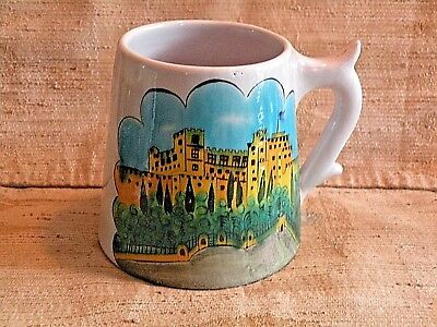 Hand Made Hand Painted Coffee Cup Made in Ikaros Rhodes, Greece
