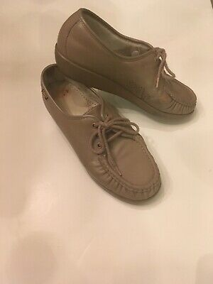 1d12f0c3a20 Womens SAS Bounce Siesta Tan Leather Walking Shoe LOAFERS Oxfords 8.5 W  Lace Up