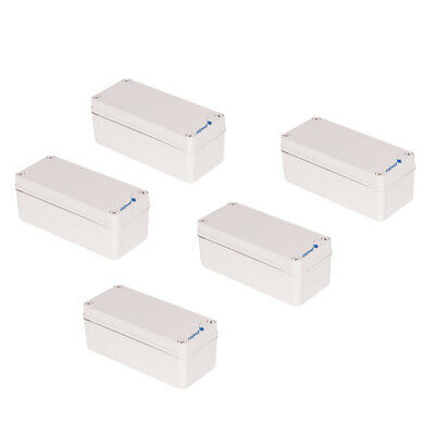 5Pcs Waterproof ABS Electronics Junction Project Box 3.15x7.09x2.76inch