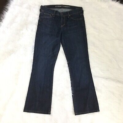 Citizens Of Humanity Size 27 Jeans Womens Blue Kelly Bootleg Low Waist Cotton