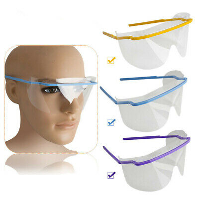1 Pc Dental Disposable Plastic Anti-fog Eye Shield Face Mask With Frame 3 Colors