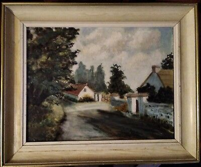 Framed Oil on Board E Devereux 76 of a Farm, Co. Wexford, Ireland