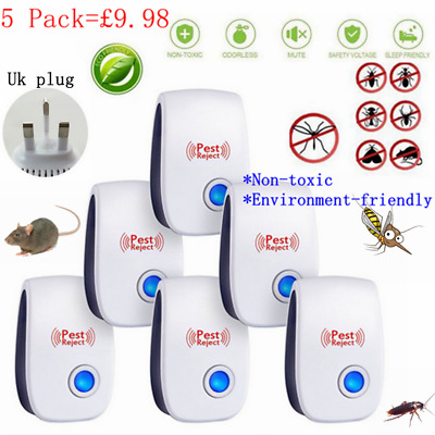 Ultrasonic Pest Control Repeller Reject Rat Mouse Mice spider 1/2/4/5/10 Pack UK