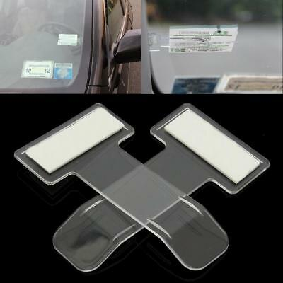 2Pcs Car Invoice Ticket Folder Vehicle Parking Ticket Permit Holder Clip SY #