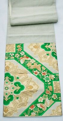 Vintage Japanese Silk Obi Brocade Fabric - piece